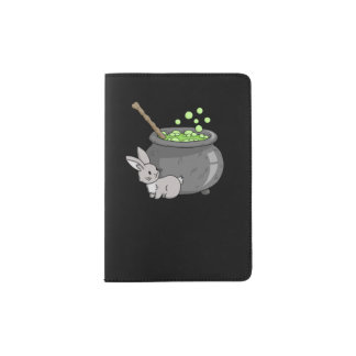 Bunny with a bubbling cauldron passport holder