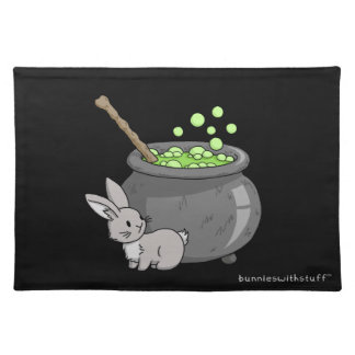 Bunny with a bubbling cauldron placemat