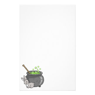 Bunny with a bubbling cauldron stationery