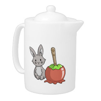 Bunny with a candy apple