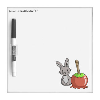 Bunny with a candy apple dry erase board