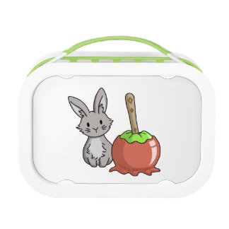 Bunny with a candy apple lunchbox