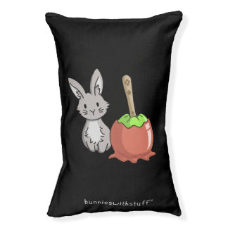 Bunny with a candy apple pet bed