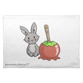 Bunny with a candy apple placemat