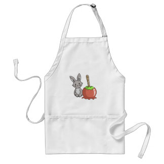 Bunny with a candy apple standard apron