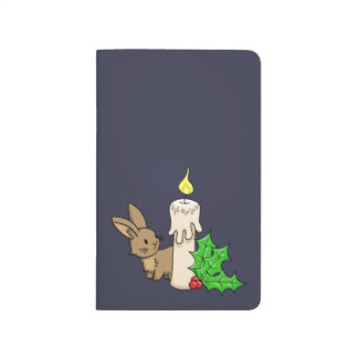 Bunny with a Christmas Candle Journal