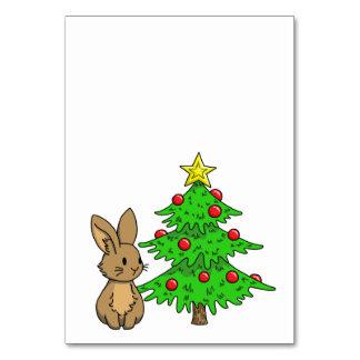 Bunny with a Christmas Tree Card