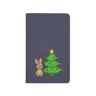 Bunny with a Christmas Tree Journal
