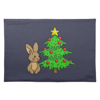 Bunny with a Christmas Tree Placemat
