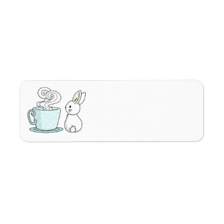Bunny with a Cup of Tea