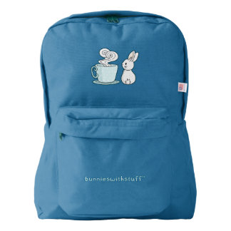 Bunny with a Cup of Tea Backpack