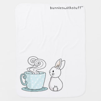 Bunny with a Cup of Tea Buggy Blankets