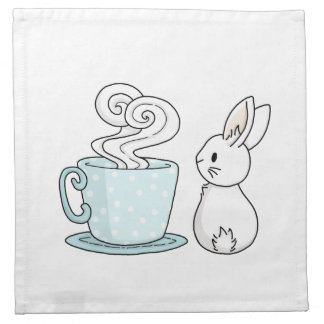 Bunny with a Cup of Tea Napkin