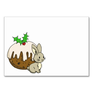 Bunny with a Figgy Pudding Card