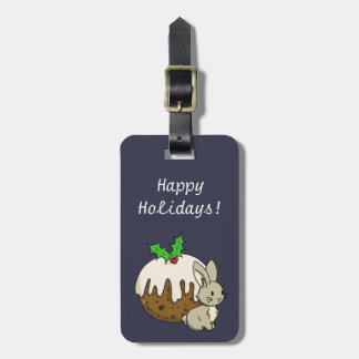 Bunny with a Figgy Pudding Luggage Tag