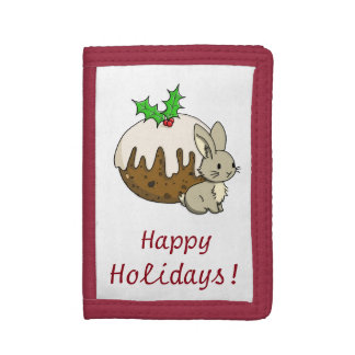 Bunny with a Figgy Pudding Tri-fold Wallet