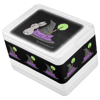 Bunny with a witch's hat igloo cool box