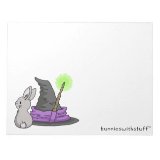 Bunny with a witch's hat notepad