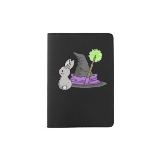 Bunny with a witch's hat passport holder