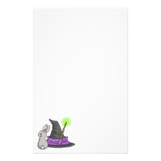 Bunny with a witch's hat stationery
