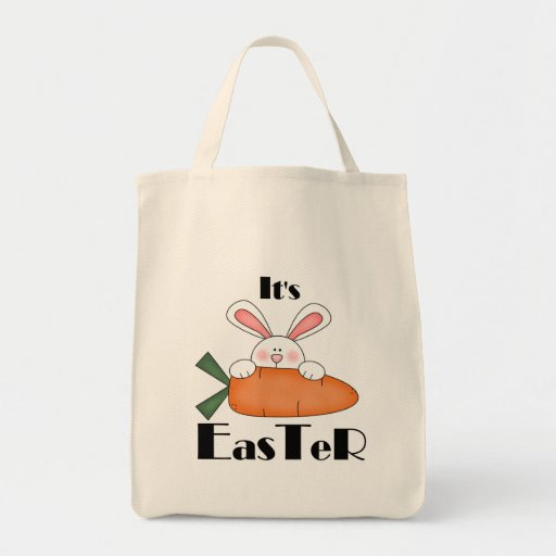 Bunny With Carrot Easter Tshirts and Gifts Bag