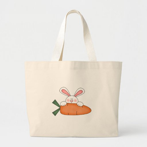 Bunny With Carrot Tshirts and Gifts Canvas Bag