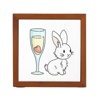 Bunny with Champagne Desk Organiser