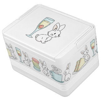 Bunny with Champagne Igloo Cooler