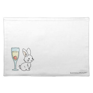 Bunny with Champagne Placemat