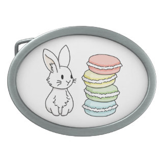 Bunny with Macaroons Belt Buckle