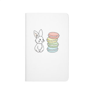 Bunny with Macaroons Journal