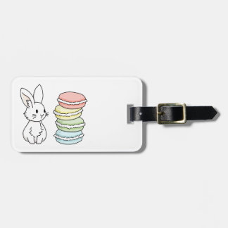 Bunny with Macaroons Luggage Tag