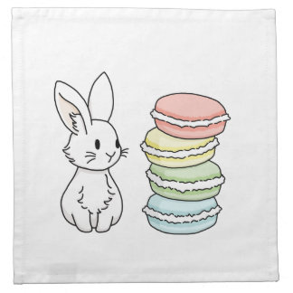 Bunny with Macaroons Napkin