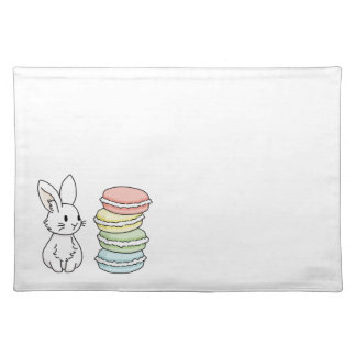 Bunny with Macaroons Placemat