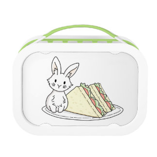 Bunny with Sandwiches Lunch Box