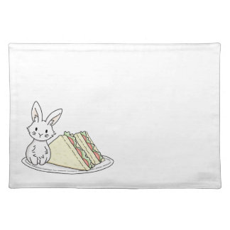 Bunny with Sandwiches Placemat