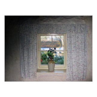 Bunratty Cottage window Posters