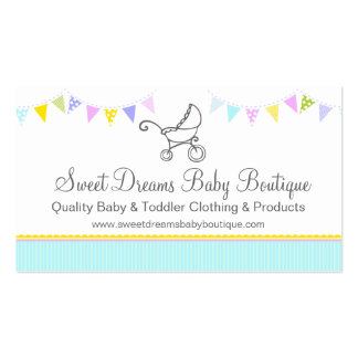 Bunting baby boutique mint aqua swing hang tag pack of standard business cards