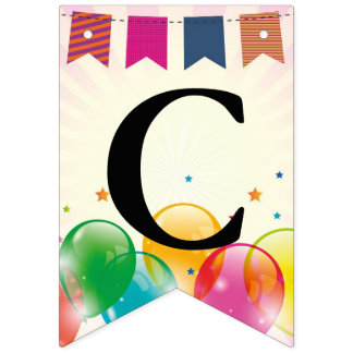 Bunting Flags Party Balloons Design Bunting Banner