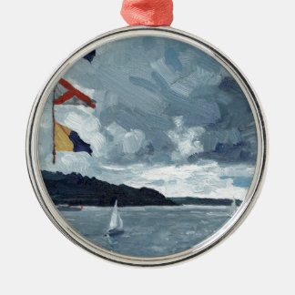 Bunting on the Bay Christmas Ornament