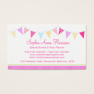 Event planning businesses business cards business card printing bunting party events planning business cards colourmoves Images