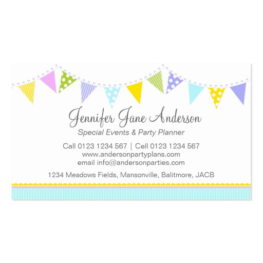 Party planning business cards – Party Plan Business Opportunities