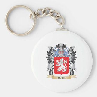 Buon Coat of Arms - Family Crest Basic Round Button Key Ring