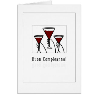 Buon Compleanno - Happy Birthday in Italian Card