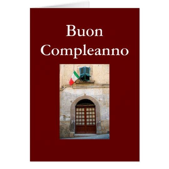 """BUON COMPLEANNO"" ITALIAN BIRTHDAY CARD"
