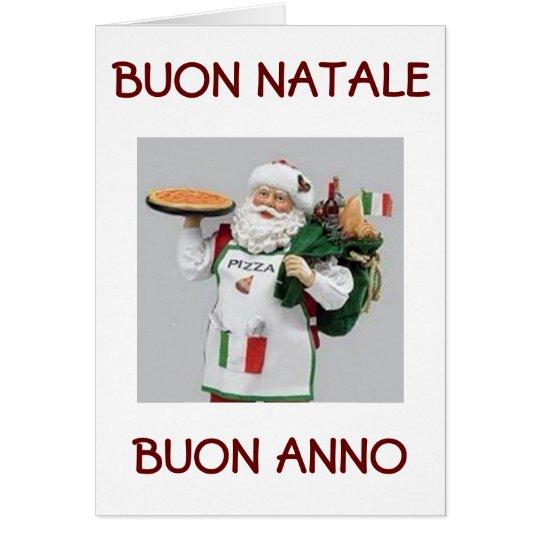 BUON NATALE / BUON ANNO ITALIAN SANTA CARD