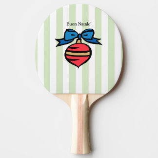 Buon Natale Christmas Ornament Ping Pong Paddle GR