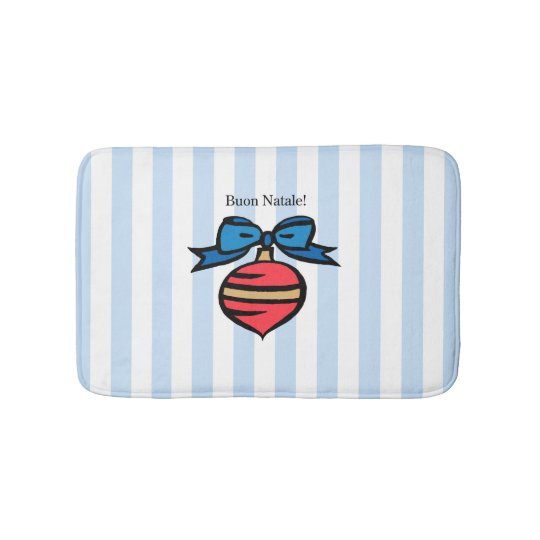 Buon Natale Diamond Small Bath Mat Blue