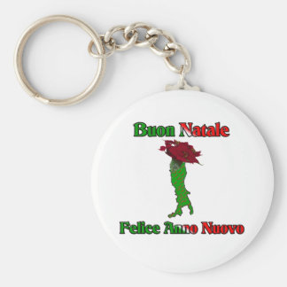 Buon Natale Felice Anno Nuovo.. Basic Round Button Key Ring