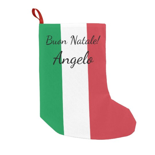 Buon Natale Italian flag personalised name Holiday Small